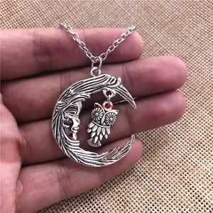 NWT MOON AND OWL NECKLACE
